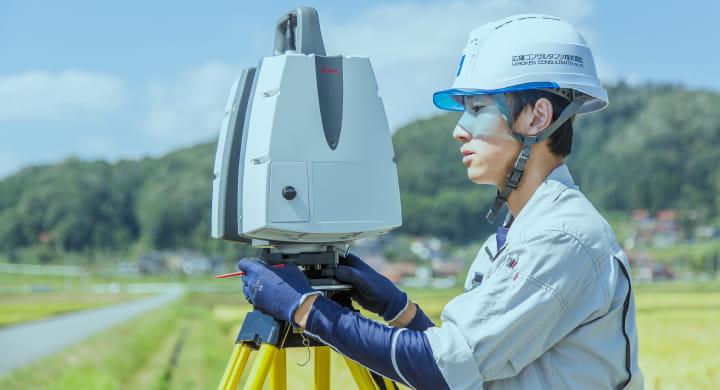 3D地上レーザスキャナ測量事業