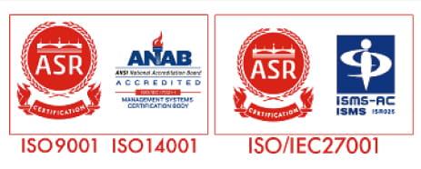 ISO9001 ISO14001 ISO/IEC27001